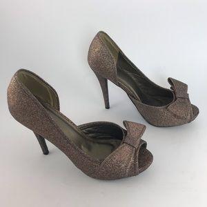 Beautiful Windsor Glitter Rose Gold Heels